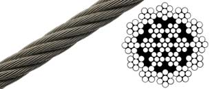19x7 Wire Rope - Non Rotating Wire Rope