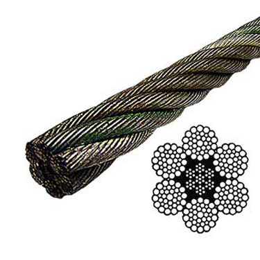 Bright Wire Rope EIPS IWRC - 6x37 Class - 1-1/8