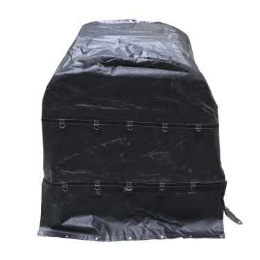 18 oz. Coil Tarp - 6'x6'x6' - Black