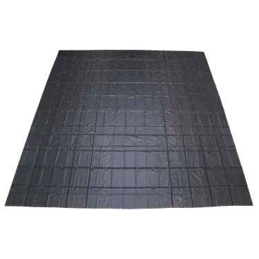 Heavy Duty Machinery Tarp - 30' x 30' - 18 oz. Black Tarp
