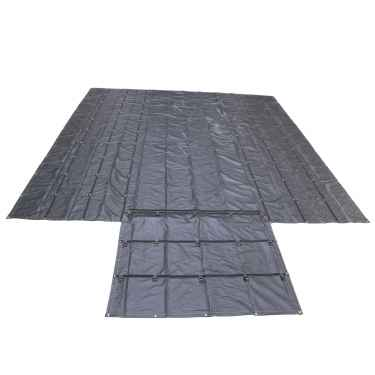 14 oz. Lumber Tarp - 20' x 20' (6' Drop) - Black
