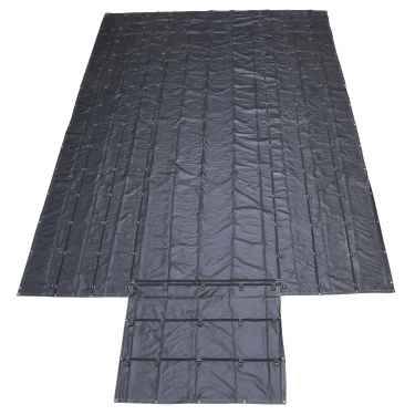 Lightweight Lumber Tarp - 20' x 28' (6' Drop & Flap) - 14 oz. Black Tarp