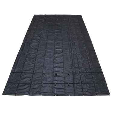 14 oz. Steel Tarp - 16' x 27' (4' Drop) - Black