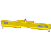 Adjustable Length Economy Lifting Beam -500 lb Capacity - 4' Max Spread image