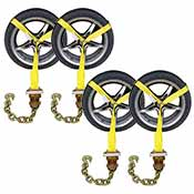 Side Mount Wheel Net w/ Ratchet & Chain Extension - 4 Pack image