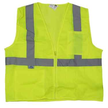 Lime Reflective Safety Vest - Hi Vis Vest - XL