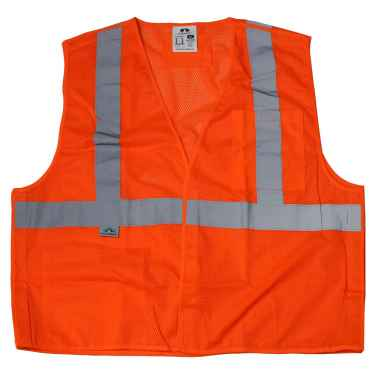 Orange Reflective Safety Vest - Class 2 Breakaway Hi Vis Vest - XL
