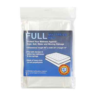 Plastic Bag for Full Mattress - 2.0 mil Clear Polyethylene