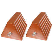 (2) Painted Rubber Double Sided Pyramid Chocks with Eyebolt: 10