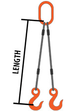 Wire Rope 4-Leg Bridle Slings : Wire Rope 4 Leg Sling
